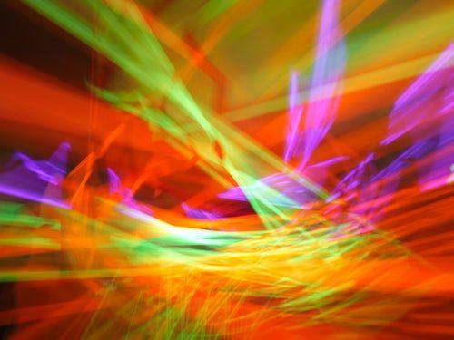 multi-coloured lights to represent cognitive dissonance